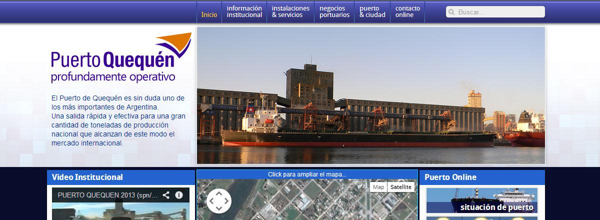 Web Puerto Quequen